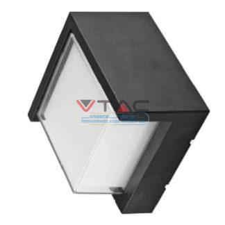 LED αδιάβροχη απλίκα 12W IP65 4000K Φυσικό λευκό Μαύρο σώμα τετράγωνη V-TAC 8540