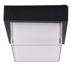 LED αδιάβροχη απλίκα 12W IP65 4000K Φυσικό λευκό Μαύρο σώμα τετράγωνη vtac 8544