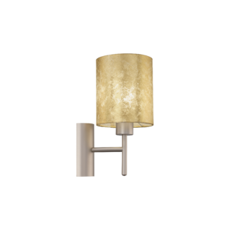Απλίκα ύψους 30,5cm, χρυσό-σαμπανιζέ υφασμάτινο καπέλο EGLO VISERBELLA 97645