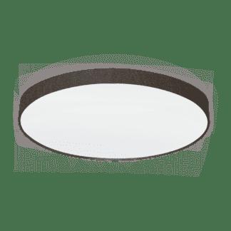 Φωτιστικό Οροφής Επτάφωτο 7x60W Ø98cm, Ύφασμα Λινό Καφέ Eglo PASTERI 97623