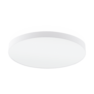 Φωτιστικό Οροφής Επτάφωτο 7x60W Ø98cm με Ύφασμα Λευκό Eglo PASTERI 97619