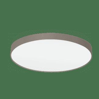 Φωτιστικό Οροφής Επτάφωτο 7x60W Ø98cm με Ύφασμα σε Χρώμα Taupe Eglo PASTERI 97621