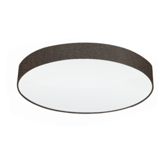 Φωτιστικό Οροφής Πεντάφωτο 5x60W Ø76cm, Ύφασμα Λινό Καφέ Eglo PASTERI 97618