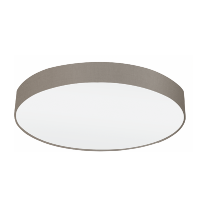 Φωτιστικό Οροφής Πεντάφωτο 5x60W Ø76cm με Ύφασμα σε Χρώμα Taupe Eglo PASTERI 97616