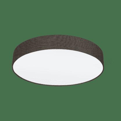Φωτιστικό Οροφής Τρίφωτο 3x60W Ø57cm, Ύφασμα Λινό Καφέ Eglo PASTERI 97614