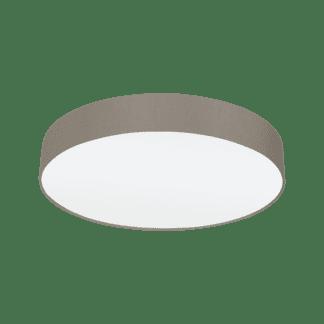 Φωτιστικό Οροφής Τρίφωτο 3x60W Ø57cm με Ύφασμα σε Χρώμα Taupe Eglo PASTERI 97612