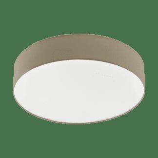 Φωτιστικό Οροφής LED 40W Ø57cm, Tunable White 3000-5000Κ Με Τηλεχειριστήριο Σε Χρώμα Taupe+Λευκό Eglo Romao3 97778