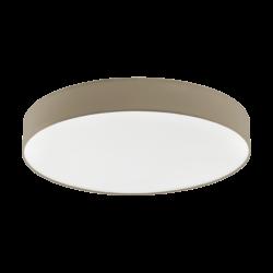 Φωτιστικό Οροφής LED 60W Ø76cm, Tunable White 3000-5000Κ Με Τηλεχειριστήριο Σε Χρώμα Taupe+Λευκό Eglo Romao3 97783
