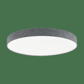 Φωτιστικό Οροφής LED 80W Ø98cm, Tunable White 3000-5000Κ Με Τηλεχειριστήριο Σε Λευκό+Γκρί Χρώμα Eglo Romao 97788