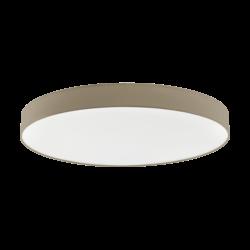 Φωτιστικό Οροφής LED 80W Ø98cm, Tunable White 3000-5000Κ Με Τηλεχειριστήριο Σε Χρώμα Taupe+Λευκό Eglo Romao3 97787