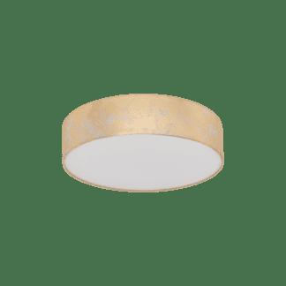 Φωτιστικό οροφής μονόφωτο Ø38cm, χρυσό & σαμπανιζέ υφασμάτινο EGLO VISERBELLA 97641