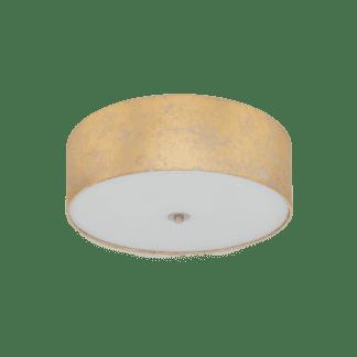 Φωτιστικό οροφής τρίφωτο Ø47cm, χρυσό-σαμπανιζέ υφασμάτινο EGLO VISERBELLA 97642