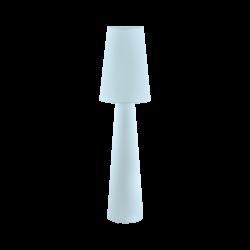Επιδαπέδιο φωτιστικό Υ1,43m δίφωτο 2x60W, Ε27 με ύφασμα σε χρώμα παστέλ ανοιχτό μπλε CARPARA 97434