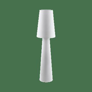 Επιδαπέδιο φωτιστικό δίφωτο Ε27, 2x60W, Υ1,43cm με ύφασμα λευκό CARPARA 97137