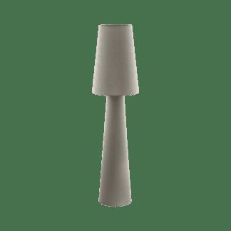 Επιδαπέδιο φωτιστικό δίφωτο Ε27, 2x60W, Υ1,43cm με ύφασμα σε χρώμα taupe(τέφρας) CARPARA 97141