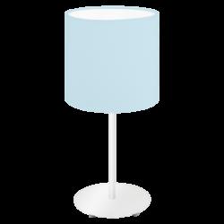 Επιτραπέζιο φωτιστικό Υ40cm με υφασμάτινο καπέλο Ø18cm σε χρώμα παστέλ ανοιχτό μπλε PASTERI-P 97389