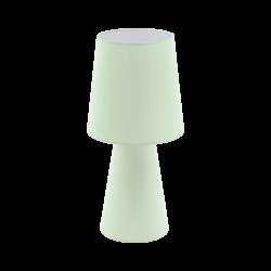 Επιτραπέζιο φωτιστικό Υ47cm δίφωτο 2x12W, Ε27 με ύφασμα σε χρώμα παστέλ ανοιχτό πράσινο CARPARA 97431