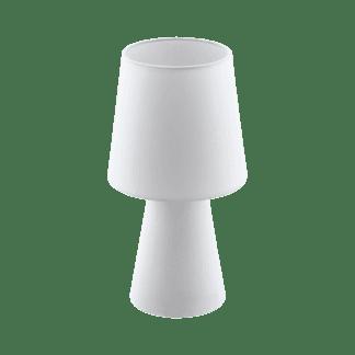 Επιτραπέζιο φωτιστικό δίφωτο Ε14, 2x5,5W, Υ34cm με ύφασμα λευκό CARPARA 97121