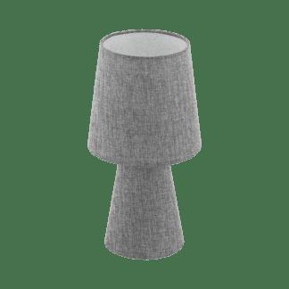 Επιτραπέζιο φωτιστικό δίφωτο Ε14 2x5,5W, Υ34cm με ύφασμα λινό γκρι CARPARA 97122