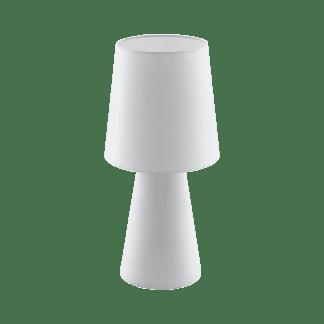 Επιτραπέζιο φωτιστικό δίφωτο Ε27, 2x12W, Υ47cm με ύφασμα λευκό CARPARA 97131