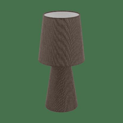 Επιτραπέζιο φωτιστικό δίφωτο Ε27 2x12W, Υ47cm με ύφασμα λινό καφέ CARPARA 97133