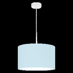 Κρεμαστό φωτιστικό μονόφωτο Ø38cm με ύφασμα σε χρώμα παστέλ ανοιχτό μπλε PASTERI-P 97385