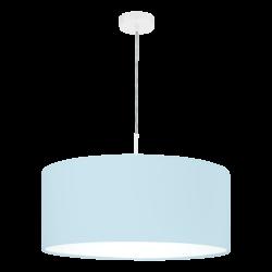 Κρεμαστό φωτιστικό μονόφωτο Ø53cm με ύφασμα σε χρώμα παστέλ ανοιχτό μπλε PASTERI-P 97386