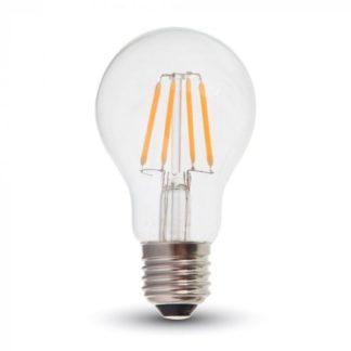 Λάμπα LED E27 A60 Filament 4W Φυσικό λευκό 4500K Γυαλί διάφανο V-TAC 7119