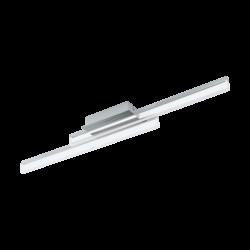 Φωτιστικό οροφής-απλίκα δίφωτη LED 2x10W θερμό φως, μήκους 88cm, IP44, με μέταλλο σε χρώμιο PALMITAL 97965