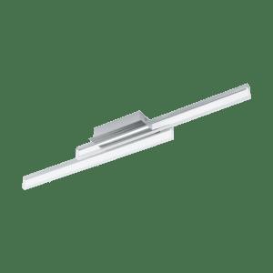Φωτιστικό οροφής-απλίκα δίφωτη LED 2x10W θερμό φως, μήκους 88cm, IP44, με μέταλλο σε χρώμιο SIDERNO 97965