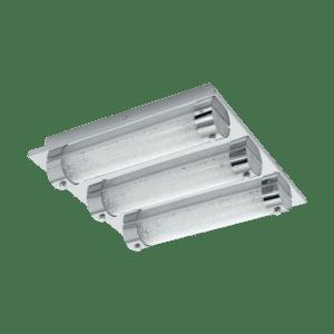 Φωτιστικό οροφής-απλίκα τρίφωτο LED 3x7W, μήκους 35cm, IP44, με μέταλλο σε χρώμιο, γυαλί και κρύσταλλο TOLORICO 97056