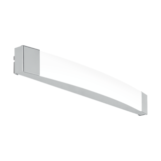 Φωτιστικό οροφής-απλίκα LED 16W φως ημέρας, μήκους 58cm, IP44, με μέταλλο σε χρώμιο SIDERNO 97719