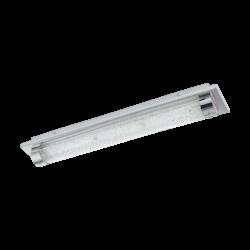 Φωτιστικό οροφής-απλίκα LED 19W, μήκους 57cm, IP44, με μέταλλο σε χρώμιο, γυαλί και κρύσταλλο TOLORICO 97055