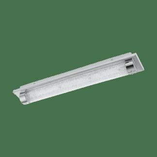 Φωτιστικό οροφής-απλίκα LED 19W, μήκους 57cm, με μέταλλο σε χρώμιο, γυαλί και κρύσταλλο TOLORICO 97055