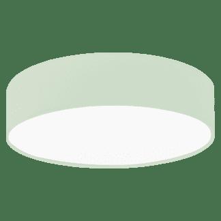 Φωτιστικό οροφής μονόφωτο, Ø38cm με ύφασμα σε χρώμα παστέλ ανοιχτό πράσινο PASTERI-P 97376