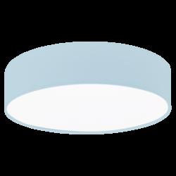 Φωτιστικό οροφής μονόφωτο 1x40W, Ø38cm με ύφασμα σε χρώμα παστέλ ανοιχτό μπλε PASTERI-P 97384