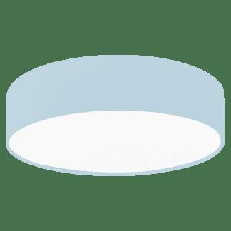 Φωτιστικό οροφής μονόφωτο 1x40W, μήκους Ø38cm με ύφασμα σε χρώμα παστέλ ανοιχτό μπλε PASTERI-P 97384