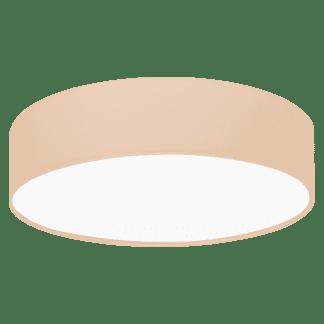 Φωτιστικό οροφής μονόφωτο, E27, Ø38cm με ύφασμα σε χρώμα παστέλ βερίκοκο PASTERI-P 97559