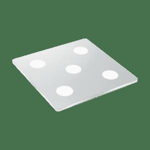 Φωτιστικό οροφής LED 5x4.5W θερμό φως, τετράγωνο μήκους 35cm, IP44, με μέταλλο σε χρώμιο CABUS 96939