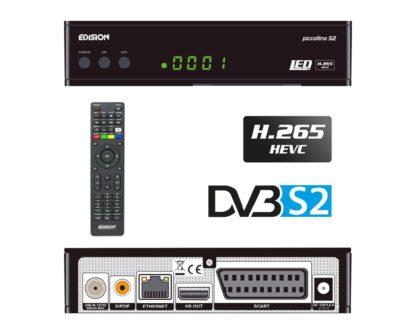 Δορυφορικός δέκτης με θύρα Card Reader και δυνατότητα επιλογής DVB-S & DVB-S2 για το δορυφορικό tuner PICCOLLΙΝΟ S2 01-07-0018
