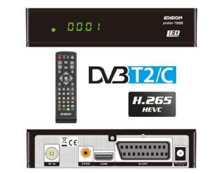 Επίγειος Ψηφιακός και Καλωδιακός Free-Τo-Air δέκτης EDISION PROTON T265 LED 01-07-0009