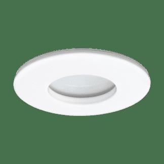 Φωτιστικό χωνευτό μπάνιου LED 5W, θερμό φως, Ø8,2cm, αλουμίνιο λευκό MARGO-LED 97428