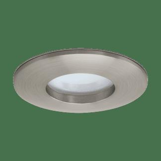 Φωτιστικό χωνευτό μπάνιου LED 5W, θερμό φως, Ø8,2cm, αλουμίνιο σατέν νίκελ MARGO-LED 97426