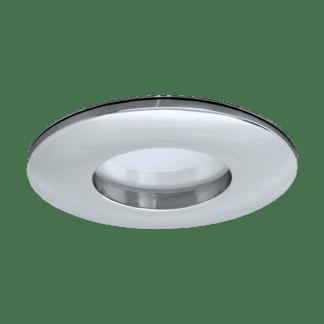 Φωτιστικό χωνευτό μπάνιου LED 5W, θερμό φως, Ø8,2cm, αλουμίνιο χρωμιωμένο MARGO-LED 97427
