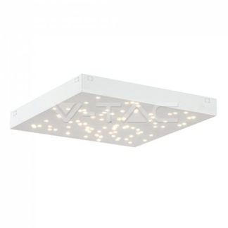 LED φωτιστικό οροφής 8W Stars με εναλλαγή χρώματος και Dimmable με λευκό σώμα vtac 40281