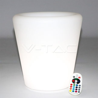 Εξωτερικό φωτιστικό LED μπαταρίας 0.50W RGB γλάστρα επαναφορτιζόμενο vtac 40181