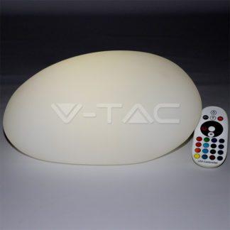 Εξωτερικό φωτιστικό LED μπαταρίας 1W RGB πέτρα επαναφορτιζόμενο vtac 40151