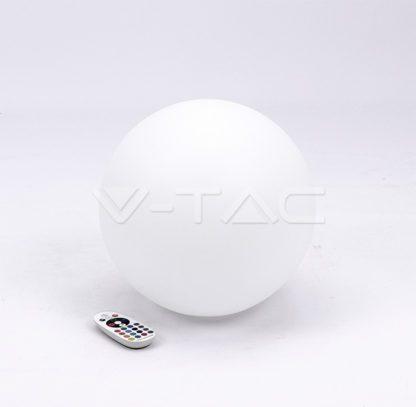 Εξωτερικό φωτιστικό LED μπαταρίας 1W RGB σφαίρα επαναφορτιζόμενο vtac40161