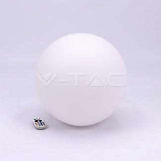 Εξωτερικό φωτιστικό LED μπαταρίας 3W RGB μπάλα επαναφορτιζόμενο vtac40201
