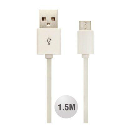 Καλώδιο Micro USB λευκό 1.5m VTAC 8450